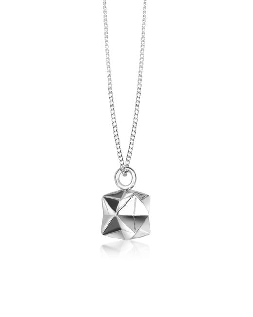 Origami Jewellery | Metallic Sterling Silver Magic Ball Pendant Necklace | Lyst