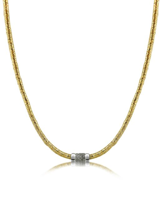 Orlando Orlandini | Metallic Capriccio - Diamond 18k Gold Chain Snake Necklace | Lyst