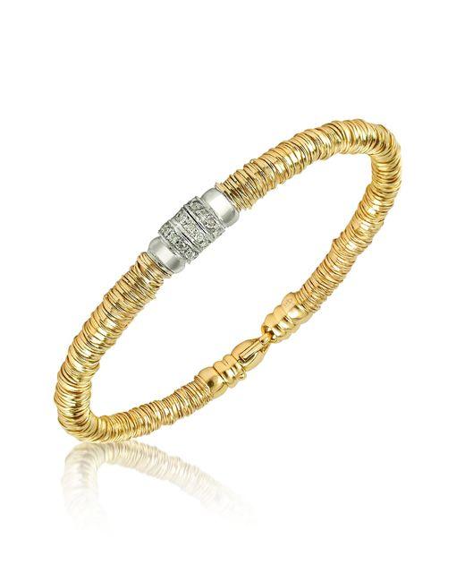 Orlando Orlandini | Metallic Capriccio - Diamond 18k Gold Chain Snake Bracelet | Lyst