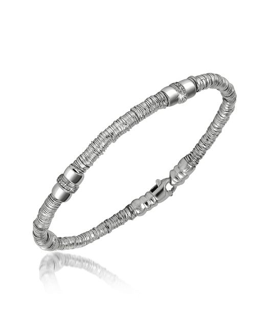 Orlando Orlandini | Capriccio - Diamond 18k White Gold Chain Snake Bracelet | Lyst