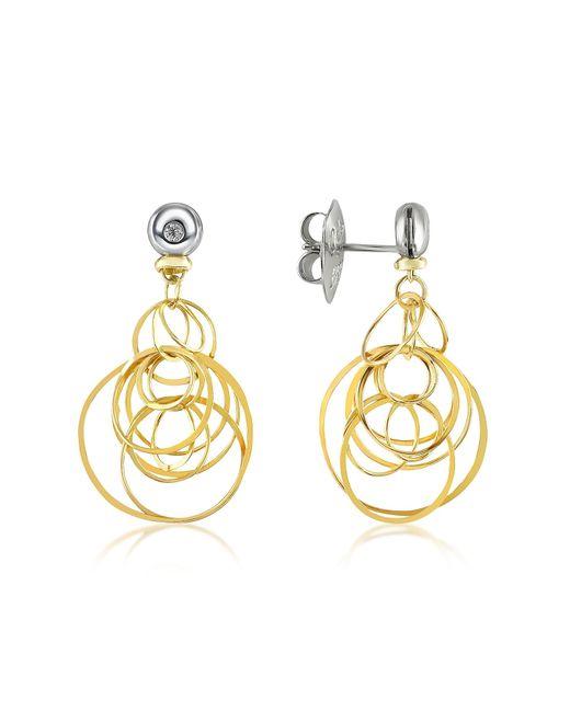 Orlando Orlandini | Metallic Scintille - Small Diamond 18k Gold Drop Earrings | Lyst