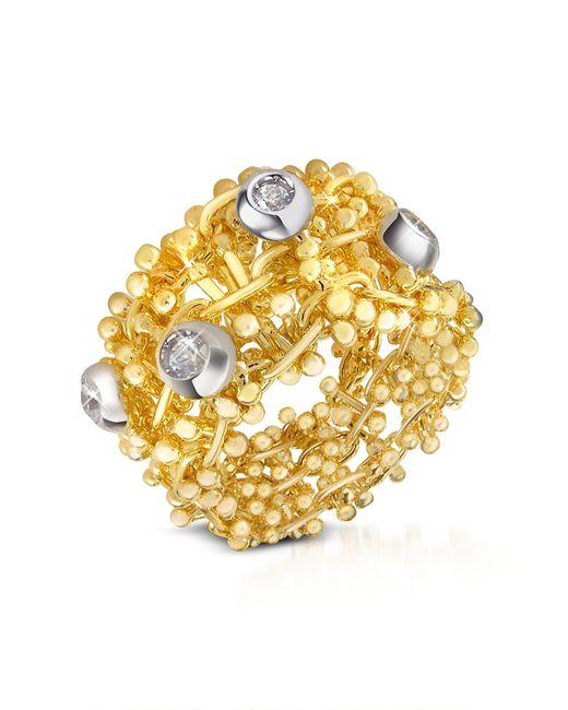 Orlando Orlandini | Diamond 18k Yellow Gold Band Ring | Lyst