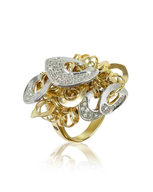 Orlando Orlandini - Metallic Fashion - Diamond 18k Gold Charm Ring - Lyst
