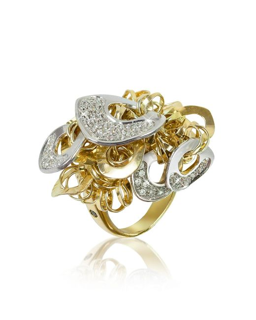 Orlando Orlandini | Metallic Fashion - Diamond 18k Gold Charm Ring | Lyst