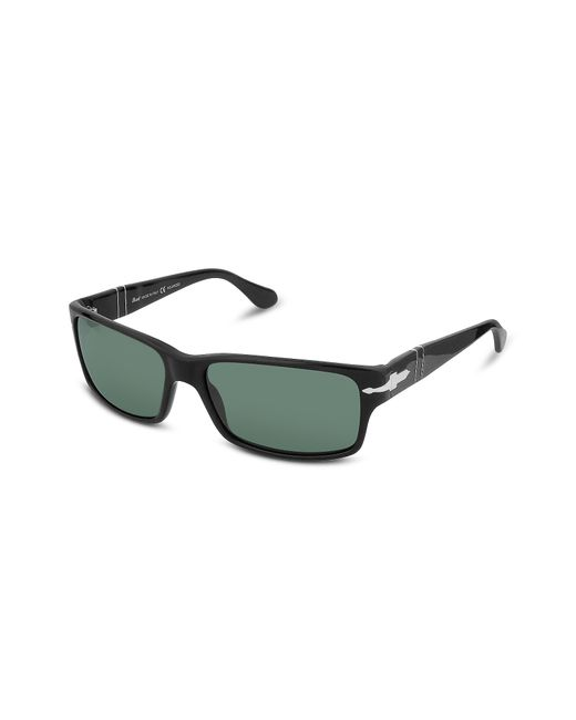 Persol | Black Arrow Signature Rectangular Plastic Sunglasses for Men | Lyst