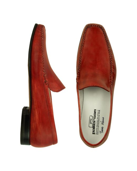 pakerson italian handmade leather loafer shoes in