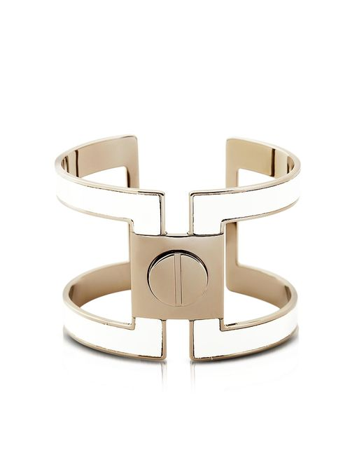 Pluma | White Brass Single Viti Cuff In Fumoso | Lyst