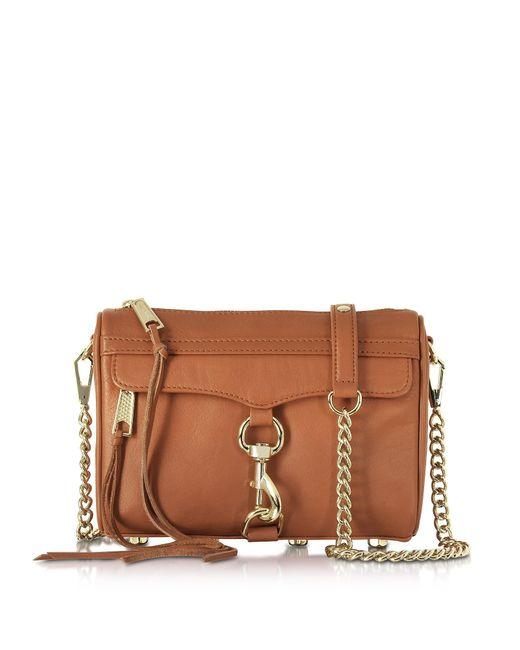 Rebecca Minkoff   Brown Mini Mac Amond Leather Crossbody Bag   Lyst