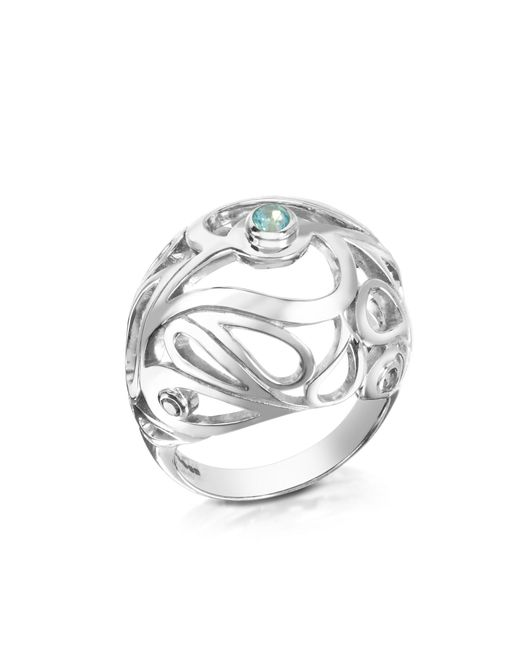 Sho London | Metallic Sterling Silver Mari Splash Boule Ring | Lyst