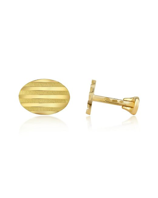 Torrini | Stripes - 18k Yellow Gold Oval Cufflinks for Men | Lyst