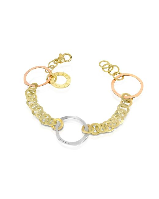 Torrini | Metallic Fiesole - Three-tone 18k Gold Circles Chain Bracelet | Lyst