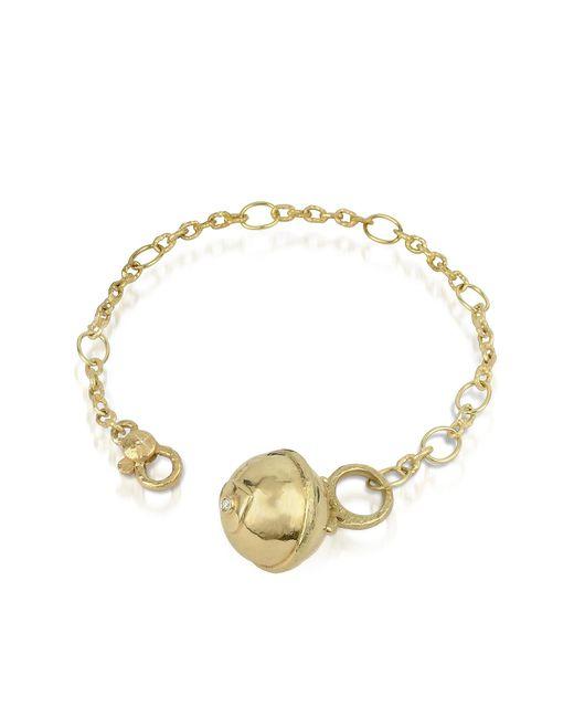 Torrini   Metallic Ball - 18k Gold And Diamond Charm Bracelet   Lyst