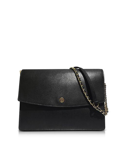 Tory Burch | Black Parker Large Leather Convertible Shoulder Bag | Lyst