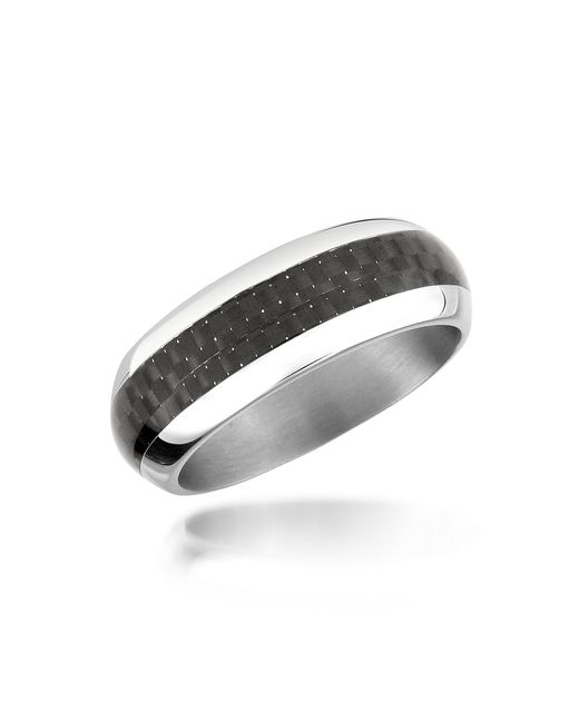 Zoppini | Metallic Zo Dark - Carbon Fiber & Stainless Steel Band Ring for Men | Lyst