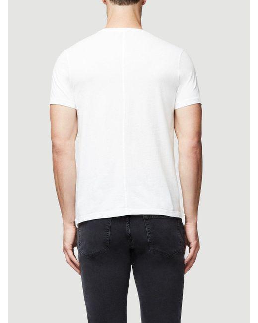 Lyst - Frame Jersey Short Sleeve Crew Neck in White for Men
