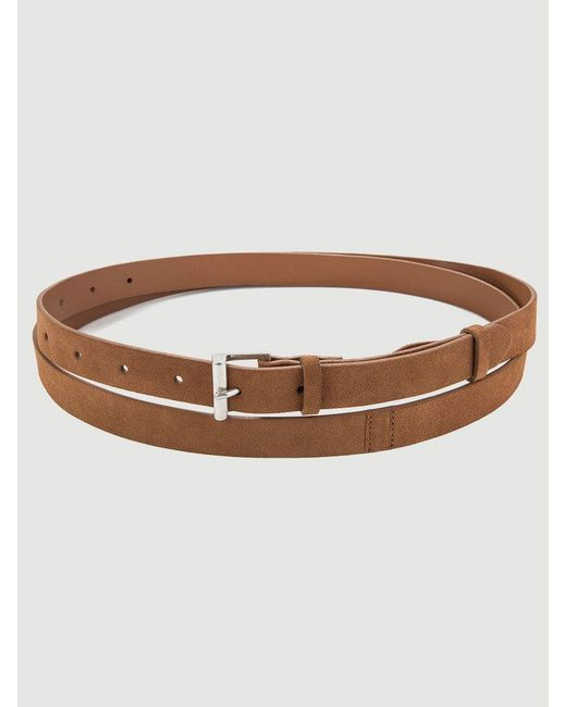 FRAME - Brown Double Wrap Suede Belt - Lyst