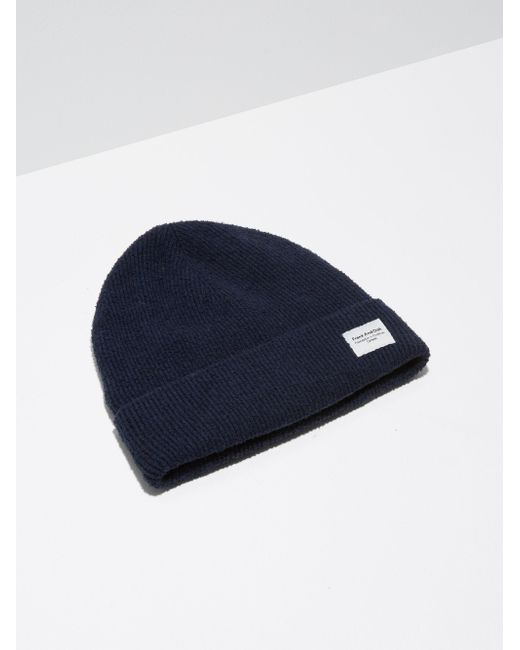 Frank And Oak | Blue Cotton-bouclé-knit Toque In Dark Sapphire | Lyst