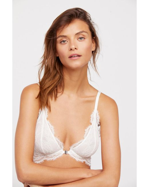 96bff13e750 ... Free People - White You're So Great Underwire Bra By Intimately ...