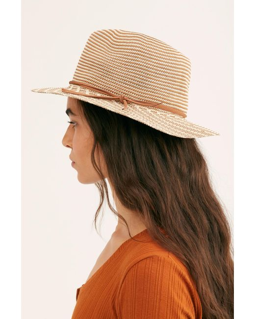 Free People - Natural Perrie Woven Hat - Lyst