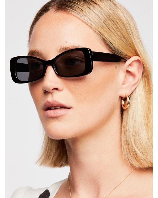 Free People - Black Okay Whatever Sunglasses - Lyst