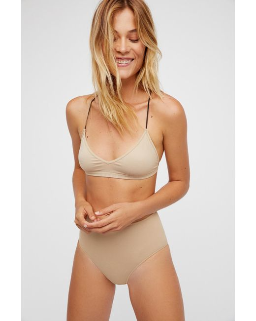 e7cfc8d797986 ... Free People - Natural Skinny Strap Bralette By Intimately - Lyst