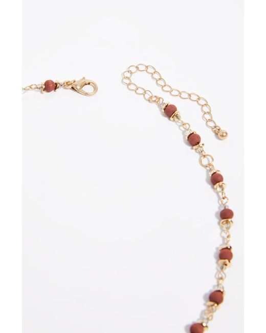 Free People - Red Glimmer Stone Necklace - Lyst