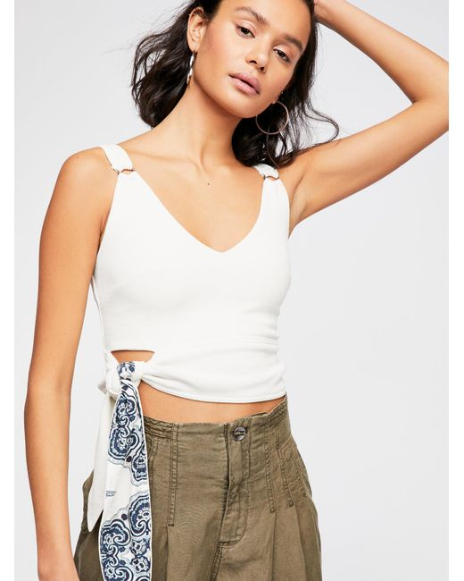 Free People - White Paisley Pop Tank - Lyst