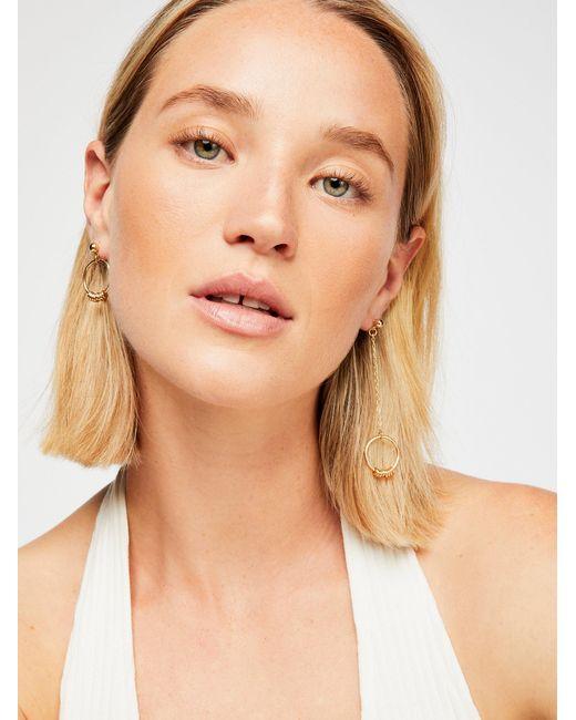 Free People - Metallic Asymmetrical Hoop Earrings - Lyst
