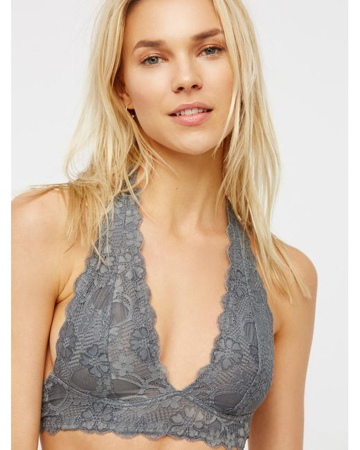 Free People - Multicolor Galloon Lace Halter Bra - Lyst