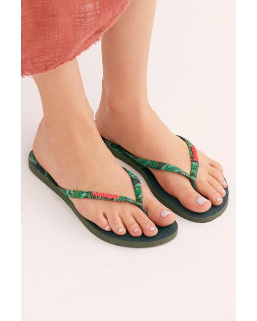 65ffca4b7946 Free People - Green Havaianas Slim Sensation Sandal - Lyst ...
