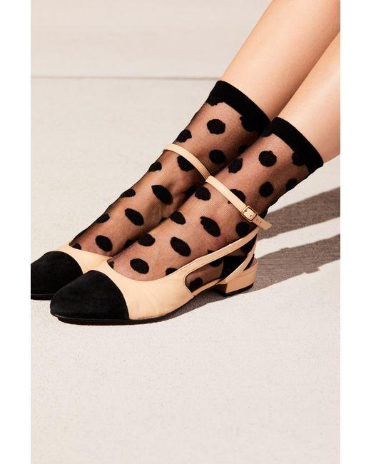 Free People - Black Polka Dot Sheer Anklet - Lyst