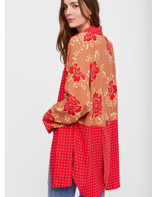 Free People - Red Forget Me Knot Kimono - Lyst