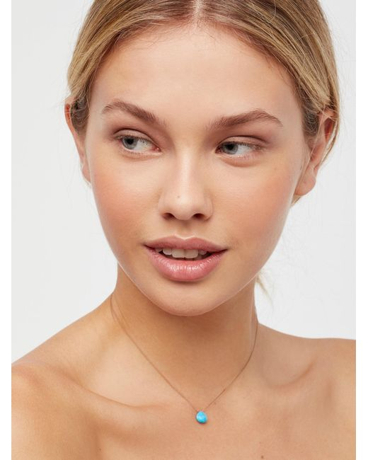 Free People   Brown Meaningful Stone Necklace   Lyst