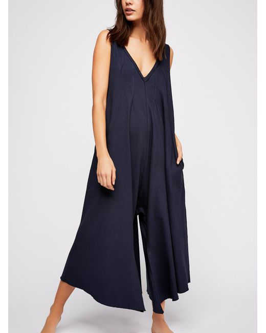 Free People - Blue Jump Up Playsuit - Lyst