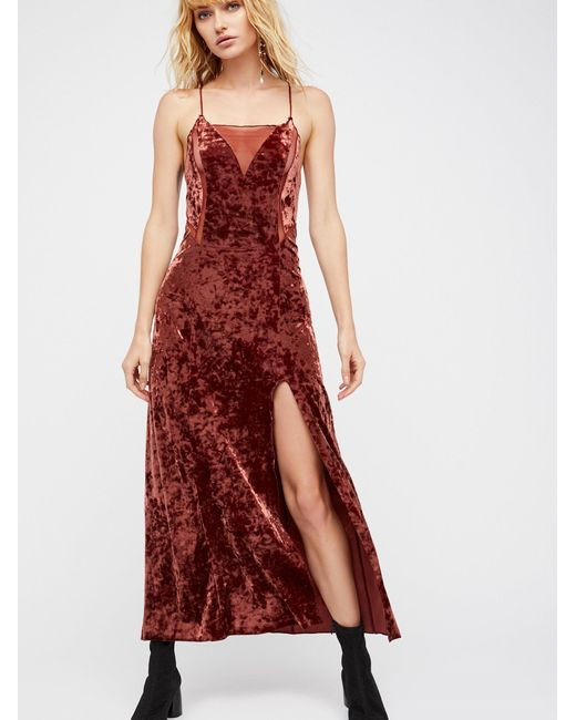Free People | Red Moon Child Maxi Slip | Lyst