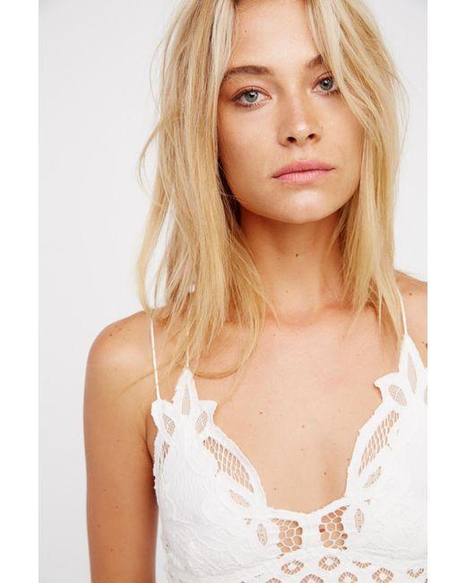 Free People - White Fp One Adella Bralette - Lyst