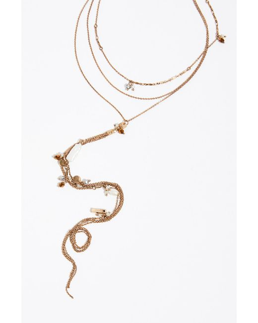 Free People - Metallic Luvin' Layering Necklace - Lyst