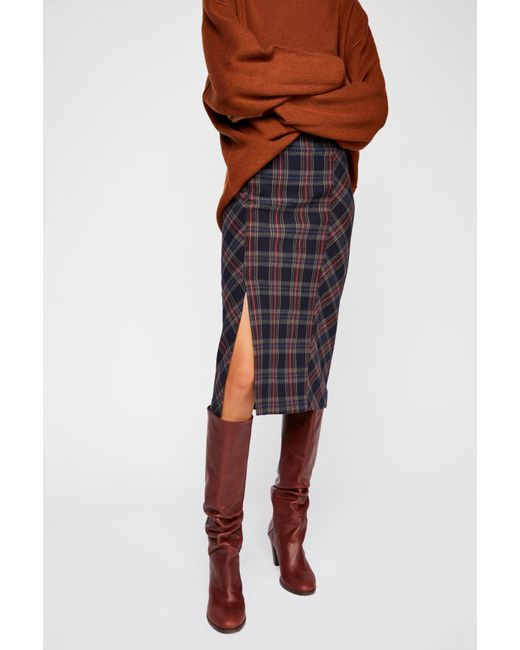 Free People - Multicolor See You Glow Plaid Skirt - Lyst