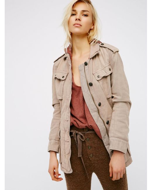 Free People | Natural Not Your Brother's Surplus Jacket | Lyst