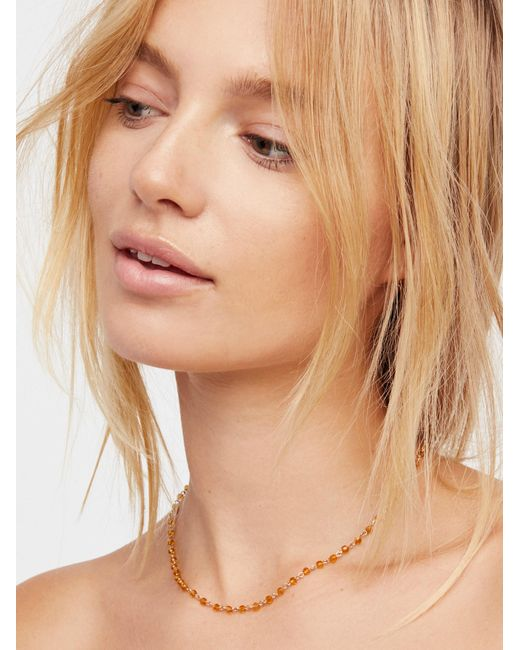 Free People | Multicolor Essential Stone Necklace | Lyst