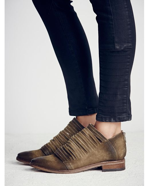 Free People - Green Lost Valley Ankle Boot - Lyst