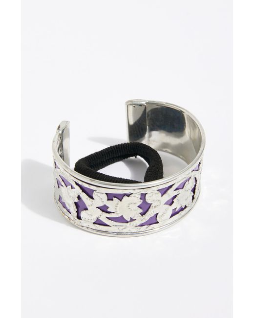 Free People - Purple Engraved Bun Cuff - Lyst