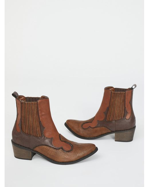 Free People - Brown Shoes Boots Ankle Boots Vegan Cavalier Boot - Lyst