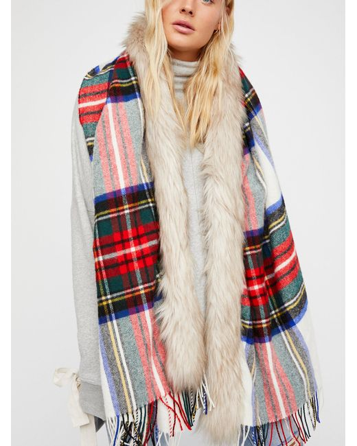 Free People | Red Accessories Scarves Countryside Luxe Plaid Scarf | Lyst
