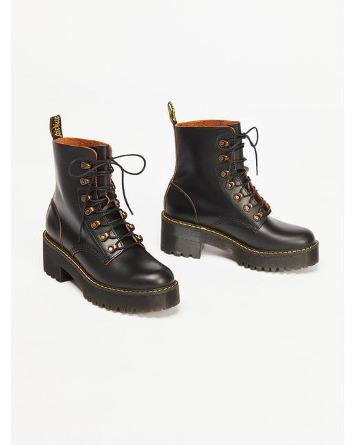 Free People - Black Dr. Martens Leona Platform Ankle Boot - Lyst