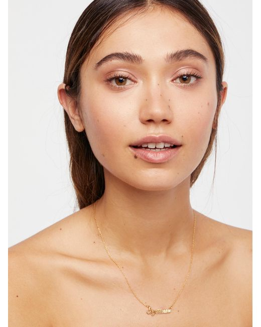 Free People - Brown Star Sign Necklace - Lyst