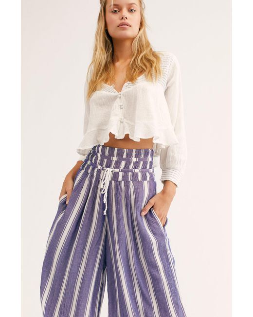 9e215781d3 ... Free People - Blue Take It Easy Pant By Intimately - Lyst ...