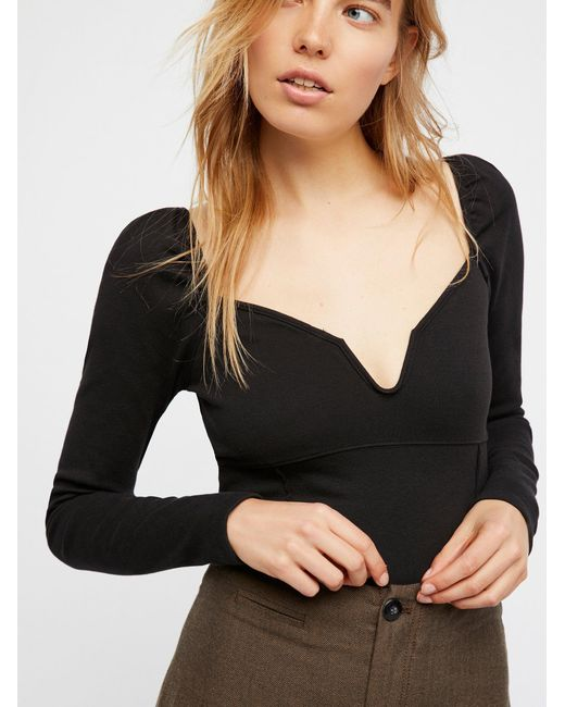 Free People | Black We The Free Gisele Layering Top | Lyst