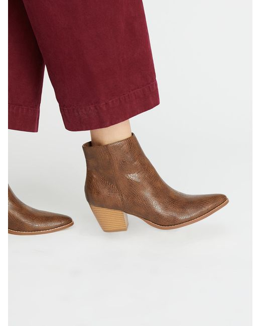 Free People - Brown Vegan Going West Boot - Lyst