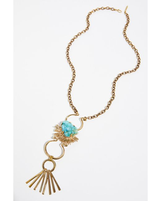 Free People - Multicolor Horizon Pendant By Castlecliff - Lyst